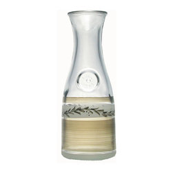Golden Hill Studio - Pewter Vine Carafe - You know what needs to be decanted? Everything. Everything needs to be decanted when it comes in a hand-painted package this pretty. Whether it's milk, cream, wine, water or even flowers on display, it deserves only the prettiest of packages.