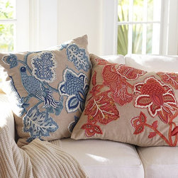 LILIAN PALAMPORE EMBROIDERED PILLOW COVERS -