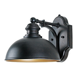 """Savoy House - Vader Collection ENERGY STAR 10 1/2"""" High Outdoor Wall Light - From Savoy House this ENERGY STAR® outdoor wall light is part of the Vader Collection. Sleek simple styling is accented with a sophisticated oiled copper finish. This energy efficient fixture features an integrated photocell for dusk-to-dawn operation. Oiled copper finish. ENERGY STAR® rated. Dusk-to-dawn photo cell. Dark Sky compliant. Includes one 18 watt CFL bulb. 11"""" wide. 10 1/2"""" high. Extends 13"""" from the wall.  Oiled copper finish.   ENERGY STAR® rated.   Dusk-to-dawn photo cell.   Dark Sky compliant.   Includes one 18 watt CFL bulb.   11"""" wide.   10 1/2"""" high.   Extends 13"""" from the wall."""