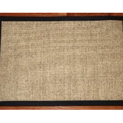 "Dean Flooring Company - Dean Flooring Company Sisal Rug/Mat 2'x3' Desert/Black Size 2' x 3' - Dean Flooring Company Sisal Rug/Mat 2'x3' Desert/Black Size 2' x 3' : Natural Sisal Rug/Mat 2' x 3' by Dean Flooring Company Color: Desert High quality all natural fiber sisal construction Non-skid rubber backing Bound with 3"" wide black binding tape Matches Dean Flooring Stair Treads Add a touch of warmth and style to your home today!"