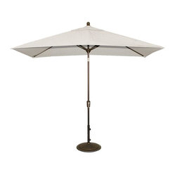 Blue Wave 6.5ft x 10ft Rectangular Market Umbrella - Stone