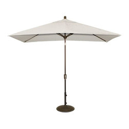 Blue Wave - Blue Wave 6.5ft x 10ft Rectangular Market Umbrella - Stone - Adriatic 6.5 x10; rectangular autotilt umbrella provides beautiful shade to oval tables our Adriatic rectangular market umbrella provides a perfect shade area and ease of operation at an affordable price. Our super strong aluminum pole has a convenient autotilt feature for afternoon sun and an easy crank to open and close the umbrella. The high quality and modern styling of this umbrella make it a beautiful addition to your backyard pool or patio. The Adriatic 6-rib canopy sports a single wind vent that allows air to escape and limits wind damage. We offer the canopy in olefin fabric with a 30 month warranty. 50 lb. base recommended for securing the Adriatic umbrella - base sold separately. Ships small package/ups.