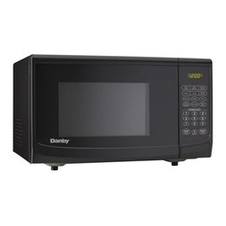 "Danby - 1.1 cu.ft. microwave, black - Spacious 1.1 cu. ft. capacity microwave, 1000 watts of cooking power, 10 power levels, Simple one touch cooking for 6 popular uses (popcorn, potato, pizza, beverage, dinner plate, frozen vegetable), Easy to read LED timer/clock, Automatic oven light & turntable, Unit dimensions 20 3/16"" W x 15 9/16"" D x 12"" H"