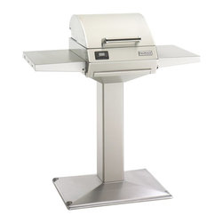 Fire Magic - Fire Magic Electric E250s Pedestal Grill Multicolor - E250S-1Z1E-P6 - Shop for Grills from Hayneedle.com! A smarter way to grill. The Fire Magic Electric E250s Pedestal Grill gives you all the grilling power in a safe electric design. Perfect for condos and balconies where open flame cooking is prohibited! This electric grill has a slim pedestal base that has a small footprint. Its 250-square inch cooking surface is just right and it heats up to 725 degrees F. This grill features a precision thermostatic control system digital read-out and handy meat probe. Two side shelves make it extra handy. About Fire MagicFire Magic understands more about the amazing things that happen when flame and good food meet. For the last 70 years they've set out to create the singularly best way to cook food outdoors using the highest-quality materials innovative design and an absolutely relentless pursuit of perfection. With a complete line of luxury-grade grills burners accessories and built-in grill island components Fire Magic is ready to turn your home into the world's best outdoor kitchen.