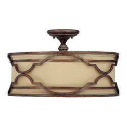 Capital Lighting - Capital Lighting 4053BD-532 Luciana Semi Flush Mount Ceiling Light - Capital Lighting 4053BD-532 Luciana Semi Flush Mount Ceiling Light
