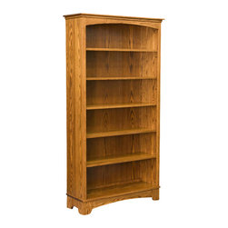 Chelsea Home Furniture - Chelsea Home Ocean 72 Inch Bookcase in Red Oak - The taller version of the 48-inch Middlesex Bookcase, this 72-inch Ocean bookcase made in red Oak with a Maligonia finish has 5 adjustable shelves for all your favorite novels and textbooks. With mission style hand construction, this book case is clean and simple to go with any living space decor. Chelsea Home Furniture proudly offers handcrafted American made heirloom quality furniture, custom made for you. What makes heirloom quality furniture? It's knowing how to turn a house into a home. It's clean lines, ingenuity and impeccable construction derived from solid woods, not veneers or printed finishes over composites or wood products _ the best nature has to offer. It's creating memories. It's ensuring the furniture you buy today will still be the same 100 years from now! Every piece of furniture in our collection is built by expert furniture artisans with a standard of superiority that is unmatched by mass-produced composite materials imported from Asia or produced domestically. This rare standard is evident through our use of the finest materials available, such as locally grown hardwoods of many varieties, and pine, which make our products durable and long lasting. Many pieces are signed by the craftsman that produces them, as these artisans are proud of the work they do! These American made pieces are built with mastery, using mortise-and-tenon joints that have been used by woodworkers for thousands of years. In addition, our craftsmen use tongue-in-groove construction, and screws instead of nails during assembly and dovetailing _both painstaking techniques that are hard to come by in today's marketplace. And with a wide array of stains available, you can create an original piece of furniture that not only matches your living space, but your personality. So adorn your home with a piece of furniture that will be future history, an investment that will last a lifetime.