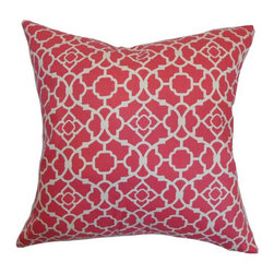 Pillow Collection - The Pillow Collection Kalmara Geometric Pillow - P18-D-42287-GREEN-C100 - Shop for Pillows from Hayneedle.com! You could say The Pillow Collection Kalmara Geometric Pillow features the geometry of nature. Made of 100% soft cotton this modern square pillow features a plush 95/5 feather/down insert for the ultimate in softness. Available in your choice of colors this floral-inspired geometric print gives any room in your home a contemporary appeal.About The Pillow CollectionIdentical twin brothers Adam and Kyle started The Pillow Collection with a simple objective. They wanted to create an extensive selection of beautiful and affordable throw pillows. Their father is a renowned interior designer and they developed a deep appreciation of style from him. They hand select all fabrics to find the perfect cottons linens damasks and silks in a variety of colors patterns and designs. Standard features include hidden full-length zippers and luxurious high polyester fiber or down blended inserts. At The Pillow Collection they know that a throw pillow makes a room.