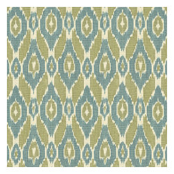 Blue & Green Handwoven Ikat Fabric - Blue & green handwoven diamond ikat.  An artisan classic straight from India to your home.Recover your chair. Upholster a wall. Create a framed piece of art. Sew your own home accent. Whatever your decorating project, Loom's gorgeous, designer fabrics by the yard are up to the challenge!