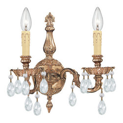 Crystorama Lighting Group - Crystorama Lighting Group 2502 Etta 2 Light Candle Style Crystal Double Wall Sco - Features: