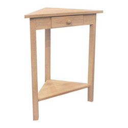 International Concepts - International Concepts OT-95 Corner Accent Table - Corner Accent Table by International Concepts Accent Table (1)