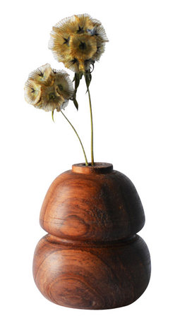 Melanie Abrantes Designs - Rosewood Bud Vase - These wooden bud vases are hand-turned in Los Angeles. Made from the scraps of the odds and ends of different projects. The Bud vases are finished with mineral oil to highlight their unique grains. Gorgeous with just a single flower or two, a wonderful addition to any home. Each bud vase is one-of-a-kind and vary in size and color.