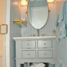 Beach Style Bathroom by RJK Construction Inc