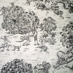 "16""x16"" Pillow Black Toile"