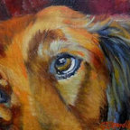 """""""Puppy Dog Eyes"""" (Original) By Chris Brandley - How Can You Resist Puppy Dog Eyes? Dogs Are So Precious!"""