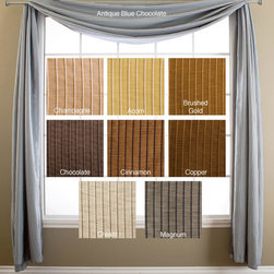 None - Madrid 6-yard Window Scarf (51 in. x 216 in.) - A lovely alternative to a traditional valance,this Madrid six-yard window scarf is ideal for covering curtain rods,and for adding an extra decorative layer to any window treatment. This beautiful window scarf is available in several popular colors.