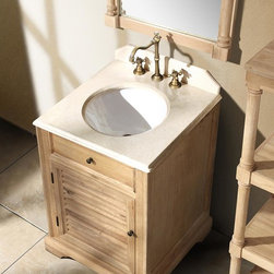 "23.75"" Prata Single Bath Vanity - Natural Oak -"