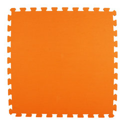 Greatmats - Greatmats Foam Floor Tile, 10 Pack, Orange - This is a 10 pack of tiles. Free Shipping. Each tile is 2x2 ft in size and covers 4 SF, this 10 pack of foam tiles will cover 40 SF. 2 Border strips included per tile. Ships ground to your door.