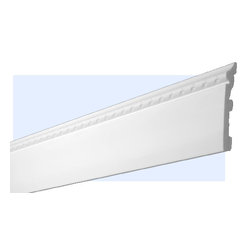 "Inviting Home - Providence Baseboard Molding - Providence decorative baseboard molding - shock resistant molding - 20% stronger then pine wood - baseboard molding is humidity resistant 4-6/8""H x 5/8""P x 8'00""L baseboard sold in 8 foot length 4 piece minimum order required molding specifications: Outstanding quality baseboard manufactured out of unique High Definition Polymer System (HDPS) environmentally friendly material is hypoallergenic and fully recyclable no CFC no PVC no formaldehydes - shock resistant - 20% stronger than pine wood - molding is humidity resistant - maximum long term protection against scratches and dents - this molding is ideal for high traffic areas and commercial applications such as clubhouses lobbies and exercise rooms - hypoallergenic and fully recyclable - molding is pre-primed with water-based white paint to allow perfection in painting process - molding has tough extremely smooth surface - back of the molding is fluted for better adhesion - this molding is lightweight and easy to install"