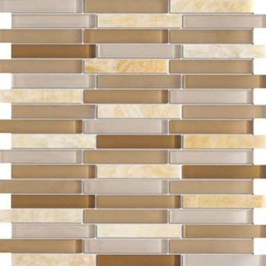 Zen Honey Cider Random Bricks Pattern  Marble & Glass Tile - Random Bricks Pattern Zen Honey Cider Polished & Froasted Mesh-Mounted Marble & Glass Mosaic Tile is a great way to enhance your decor with a traditional aesthetic touch. This Mosaic Tile is constructed from durable, impervious Marble & Glass material, comes in a smooth, unglazed finish and is suitable for installation on floors, walls and countertops in commercial and residential spaces such as bathrooms and kitchens.
