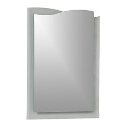 """Decor Wonderland Mirrors - Decor Wonderland Tula Bathroom Mirror - The Tula wall mirror is a fresh and beautiful decorative item for any room including living room, master suite or bathroom. The fusion of a frameless mirror coupled with a bottom layer of clear glass creates a border featuring a 1/4"""" inch bevel is a truly unique accessory that is the newest approach to mirrors."""