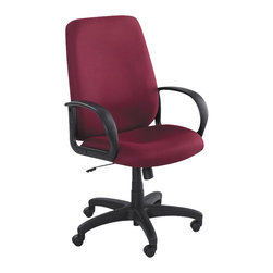 Safco - Safco Poise Burgundy Executive High-Back Office Chair - Safco - Office Chairs - 6300BG - As the perfect balance of composure and harmony Poise brings Zen to your workspace without allowing you to space out! The seats deep contours and generous size provides you and your guests with maximum comfort. Enjoy a full 360�� swivel with pneumatic seat height control tilt tension and tilt lock control. Poise also features four inch thick padded seat and back along with integrated loop arms.