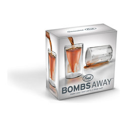 Fred and Friends - Bombs Away Shot Glasses - The next time you plan to party