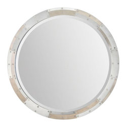 """Ren Wil - Ren Wil MT1440 Armstrong 32"""" Circle Beveled Metal Frame Wall Mounted Mirror - Features:"""