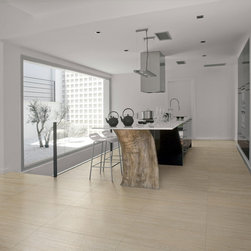 Kitchens - Coem Pietra Millerighe in the color Carmel