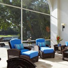 Contemporary Porch by Susan Lachance Interior Design