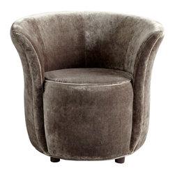 Smoke Velvet Modern Ms. Ta-da Chair - *Ms. Ta-da Chair