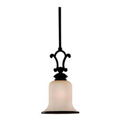 Sea Gull Lighting - Bronze Down Mini Pendant - This Down Mini Pendant has a Bronze Finish and is part of the Acadia Collection. It is Energy Star Compliant, and Energy Efficient.