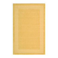 Nourison - Nourison Westport WP30 5' x 8' Yellow Area Rug 75803 - Pastel perfection comes home in this modern classic rug design. A double border of darker and lighter golden yellow hues frame a texturally toned center panel. This perfect expression of elegant simplicity makes your good taste the centerpiece of the room.