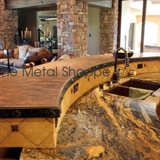 Kitchen Countertops by The Metal Shoppe, Custom Metal Design, Fabrication