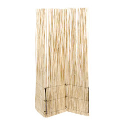 Natura Divider Screen - Bamboo straws are usually found outdoors, on pergolas or fences. This pretty screen is a smart way to bring a supposedly outdoor material indoors.