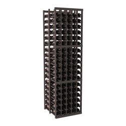 Wine Racks America - 5 Column Double Deep Wine Cellar in Pine, Black + Satin Finish - Get double the wine storage capacity without using more of your walls. Fit 15 cases of wine on less than 2 ft of wall space. Designed for beauty and functionality, this rack will satisfy your needs and withstand the test of time. We guarantee it.