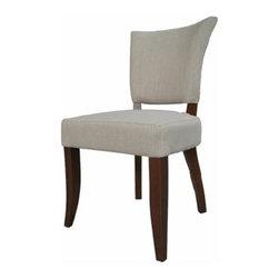 ARTeFAC - RV-2060- Fabric Dining Chair, Light Grey - RV-2060 Fabric Dining Chair