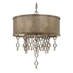 Metropolitan - Metropolitan N6724 Eight Light Single Tier Drum Foyer Pendant from the Ajourer C - Traditional / Classic Eight Light Single Tier Drum Foyer Pendant from the Ajourer CollectionThe Ajourer Collection stands out for its strong appearance. Reminiscent of something one might find in a medieval castle, it brings an aesthetic to your living space otherwise unattainable.Features: