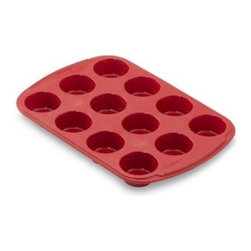 Wilton - Wilton Ultra-Flex Silicone Non-Stick 12-Cup Mini Muffin Pan - Flexible silicone bakeware cooks evenly and quickly while being non-stick and incredibly easy to clean. Silicone resists stains and odors and is heat resistant up to 500° F. For easy storage, bakeware can be folded. Oven, microwave, refrigerator, free