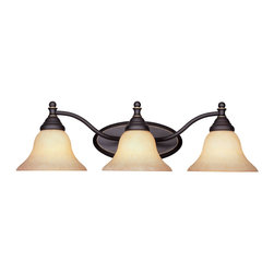 Designers Fountain - Designers Fountain Savon Bathroom Lighting Fixture in Aged Bronze Patina - Shown in picture: Savon Bathroom Light in Aged Bronze Patina finish