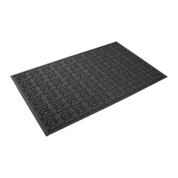 Bungalow Flooring - 36 in. L x 60 in. W Charcoal Waterguard Star QuiLight Mat - Made to order. Quilted star design traps dirt, resists fading, rot and mildew. Indoor and outdoor use. 36 in. L x 60 in. W x 0.5 in. H