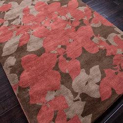 Modern Flowers Hand Tufted Rug -