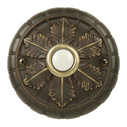 Craftmade - Medallion Antique Bronze Doorbell w LED Light - Surface Mount Medallion. Chime Finish: Antique Bronze. Push button Light: LED Light for Years of Service. Push button Only. Width: . Depth: 1.0 in.. Diameter: 2.93 in.