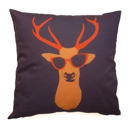 """Les Coussins d'Emilie - """"Deer"""" Cushion - Make a statement with this beautiful double-sided printed pillow!"""