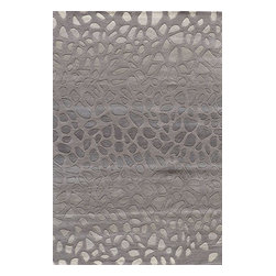 Momeni - Momeni Delhi Dl33 Silver Rug - Delhidl - Delhi is exquisitely hand tufted and hand carved by master craftsmen. Made in India of 100% wool, the simplicity, elegance, and beauty of this fine collection is truly unique.