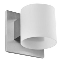 """LumenArt - LumenArt AWL.45 Wall Sconce - The AWL.45 Wall Sconce has been designed by LumenArt. The glistening profile of the AWL.45 Wall Sconce LED features an opal glass cylinder diffusion element, the glass meets the minimal backplate for a clean, classic wall profile. Light emits up, down and forward.         Product Details: The AWL.45 Wall Sconce has been designed by LumenArt. The glistening profile of the AWL.45 Wall Sconce LED features an opal glass cylinder diffusion element, the glass meets the minimal backplate for a clean, classic  wall profile. Light emits up, down and forward. Details:                         Manufacturer:            LumenArt                            Designer:            LumenArt                            Made in:            Florida                            Dimensions:            3.5"""" (8.9 cm) sq. X 4"""" (10.1 cm) extension                            Light bulb:            1 X 60W 120V G9 halogen lamp (included)                            Material:            Aluminum, Metal"""