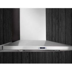 """Elica - ELG630SS Lugano 30"""" Stainless Wall Mounted Range Hood with 600 CFM Internal Blow - With Lugano the beauty of stainless steel conveys understated elegance with a gently tapered hood that measures only 5 high The 30 width Lugano features include a powerful 600 CFM blower halogen lighting with 2 light intensities dishwasher-safe anodi..."""