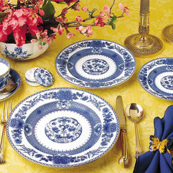 Mottahedeh - Imperial Blue China - Mottahedeh's Imperial Blue is another great classic, and it mixes beautifully with the Blue Dragon china. Every color of tablecloth, napkin and flower looks great with blue and white china.