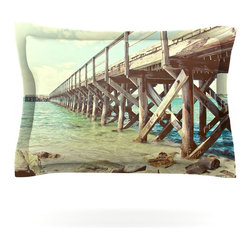 "Kess InHouse - Debbra Obertanec ""On The Pier"" Beach Pillow Sham (Cotton, 30"" x 20"") - Pairing your already chic duvet cover with playful pillow shams is the perfect way to tie your bedroom together. There are endless possibilities to feed your artistic palette with these imaginative pillow shams. It will looks so elegant you won't want ruin the masterpiece you have created when you go to bed. Not only are these pillow shams nice to look at they are also made from a high quality cotton blend. They are so soft that they will elevate your sleep up to level that is beyond Cloud 9. We always print our goods with the highest quality printing process in order to maintain the integrity of the art that you are adeptly displaying. This means that you won't have to worry about your art fading or your sham loosing it's freshness."