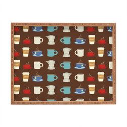 DENY Designs - Nicole Martinez Good Morning 2 Rectangular Tray - With DENY'S multifunctional rectangular tray collection, you can use it for decoration in just about any room of the house or go the traditional route to serve cocktails. Either way, you'll be the ever so stylish hostess with the mostess!