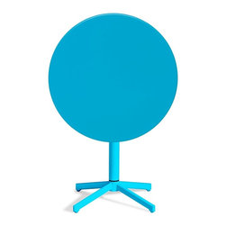 Zuo Modern - Zuo Modern Big Wave Outdoor Folding Round Dining Table X-840307 - Add color to any outdoor space with the Big Wave folding table. Made from 100% epoxy coated steel durable for any climate. Table folds up for ease of storage when not in use.